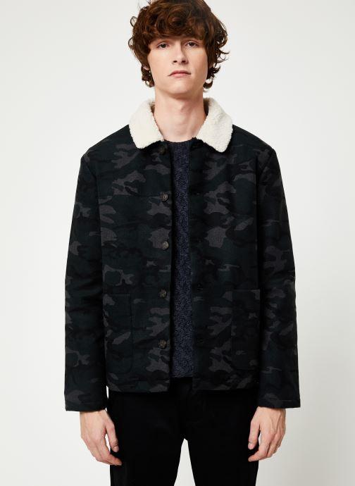 Vêtements Faguo LORGE JACKET WOOL Vert vue détail/paire