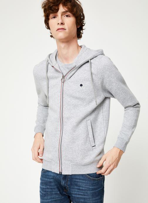 Vêtements Faguo MESNIL SWEAT COTTON Gris vue détail/paire