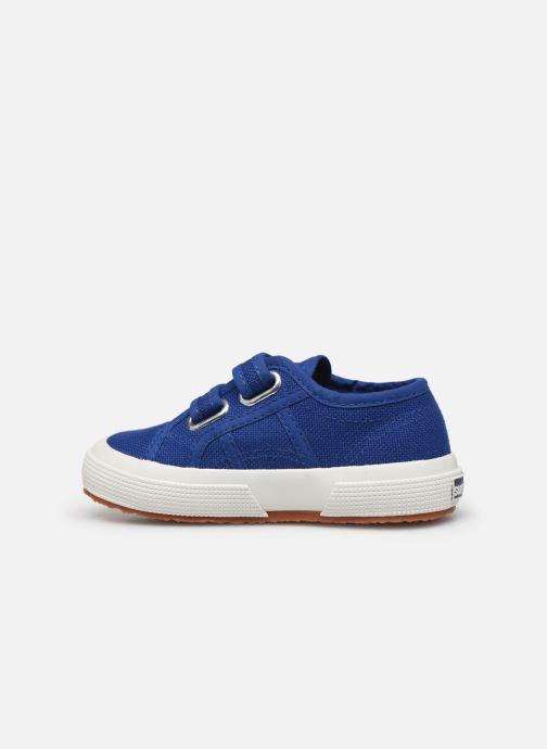 Sneakers Superga 2750 J Velcro E C2 Blauw voorkant
