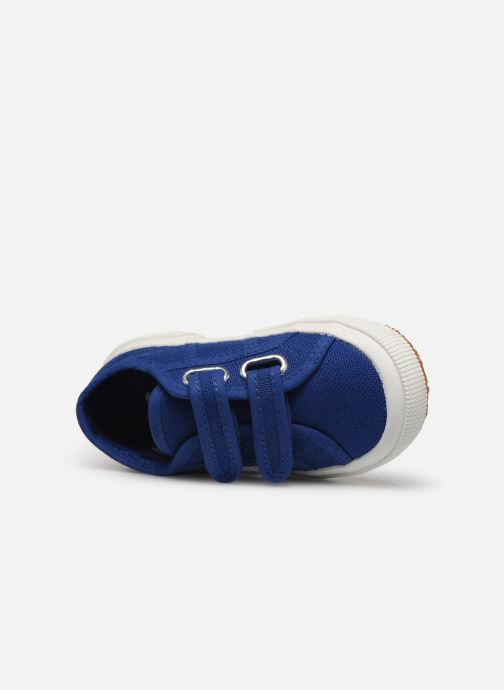 Trainers Superga 2750 J Velcro E C2 Blue view from the left