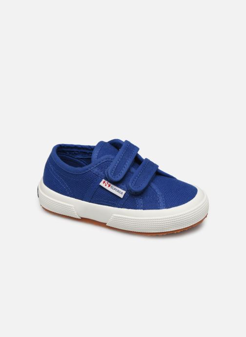 Trainers Superga 2750 J Velcro E C2 Blue detailed view/ Pair view