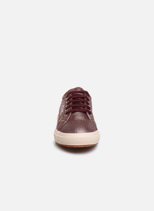 Sneaker Superga 2750-LAMEJ E weinrot schuhe getragen