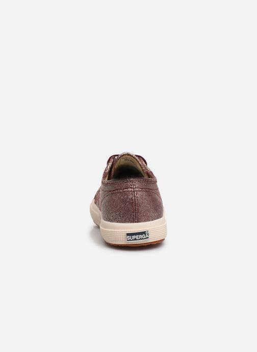 Sneaker Superga 2750-LAMEJ E weinrot ansicht von rechts