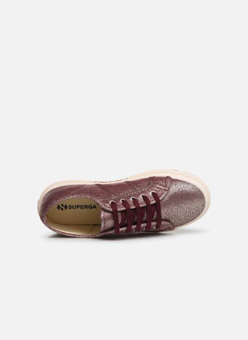 Sneaker Superga 2750-LAMEJ E weinrot ansicht von links