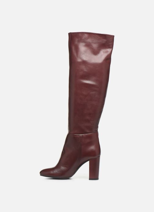 Boots & wellies Georgia Rose Ladoua Burgundy front view