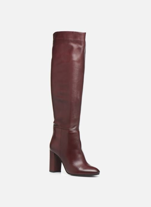 Boots & wellies Georgia Rose Ladoua Burgundy detailed view/ Pair view