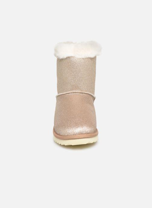 Bottes Pepe jeans Angel Glitter Or et bronze vue portées chaussures