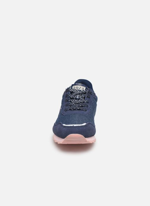 Baskets Pepe jeans Belle Denim Bleu vue portées chaussures