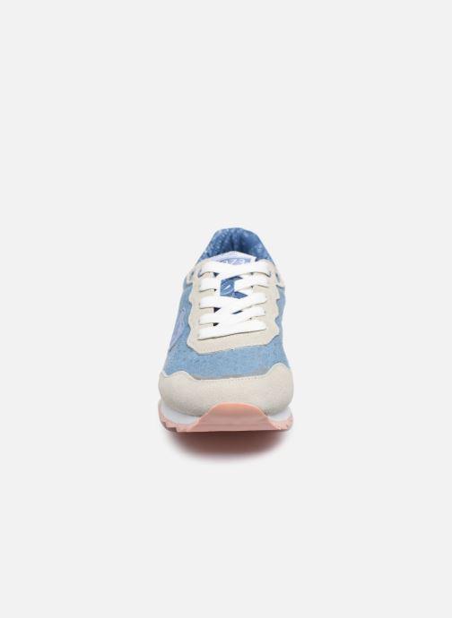 Sneakers Pepe jeans Belle Denim Azzurro modello indossato