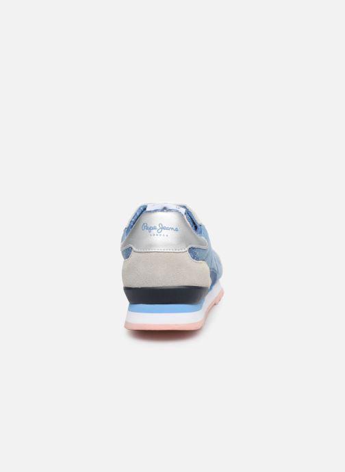 Baskets Pepe jeans Belle Denim Bleu vue droite