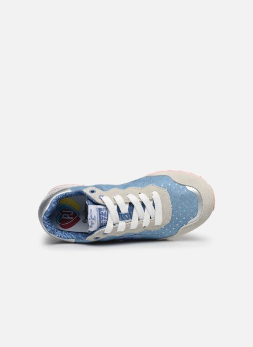 Sneakers Pepe jeans Belle Denim Azzurro immagine sinistra