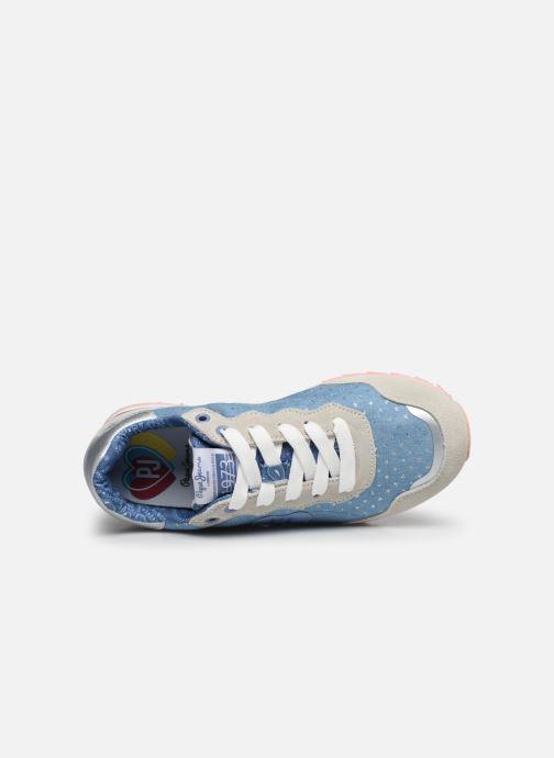 Sneaker Pepe jeans Belle Denim blau ansicht von links