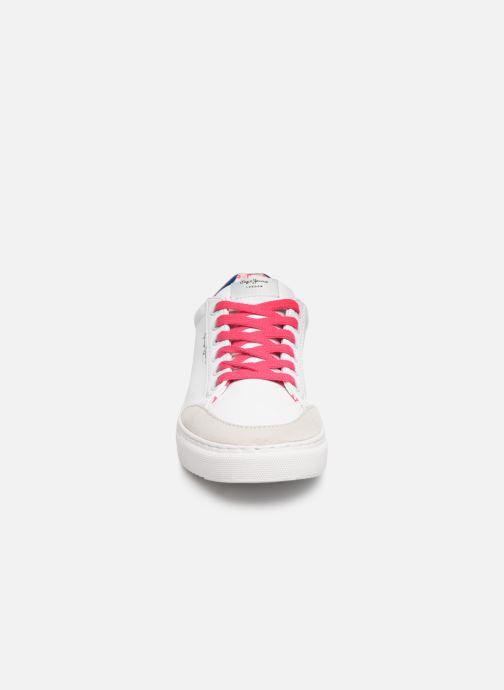 Baskets Pepe jeans Adams Basix Junior Blanc vue portées chaussures