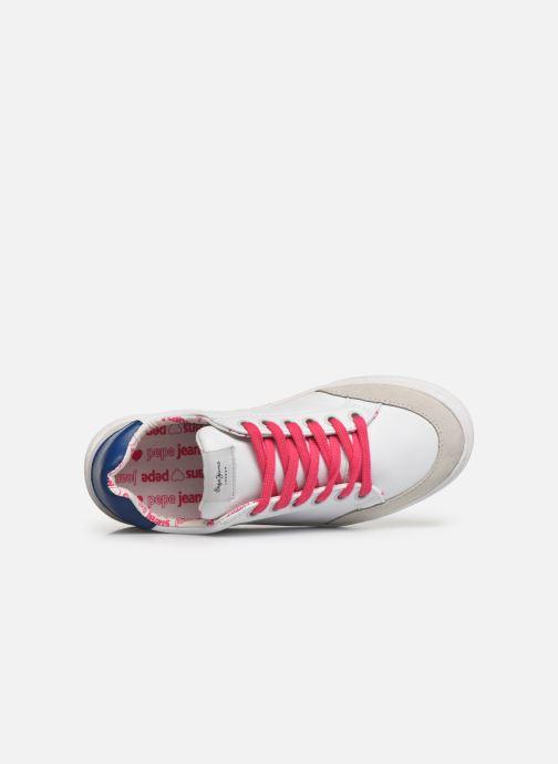 Sneakers Pepe jeans Adams Basix Junior Bianco immagine sinistra