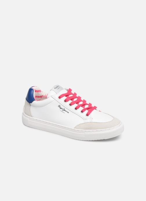 Baskets Pepe jeans Adams Basix Junior Blanc vue détail/paire