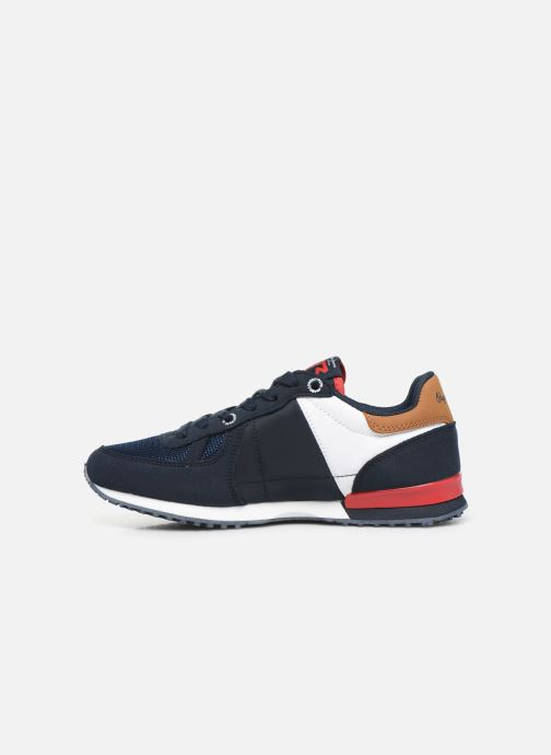 Sneakers Pepe jeans Sidney Basix Blauw voorkant