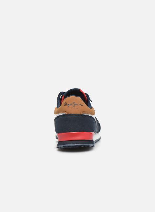 Sneakers Pepe jeans Sidney Basix Blauw rechts