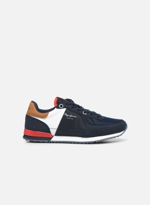 Sneakers Pepe jeans Sidney Basix Blauw achterkant