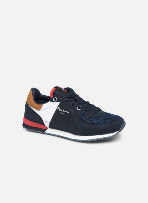 Sneakers Pepe jeans Sidney Basix Blauw detail
