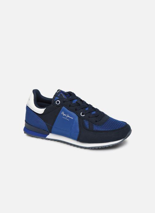 Baskets Pepe jeans Sidney Basic Bleu vue détail/paire
