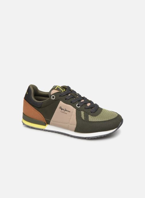 Trainers Pepe jeans Sidney Basic Green detailed view/ Pair view