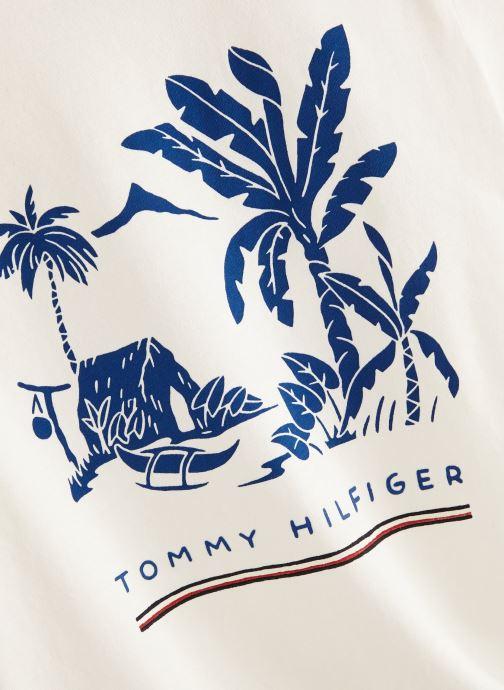 Vêtements Tommy Hilfiger Msw Laguna Beach Graphic Tee Blanc vue portées chaussures