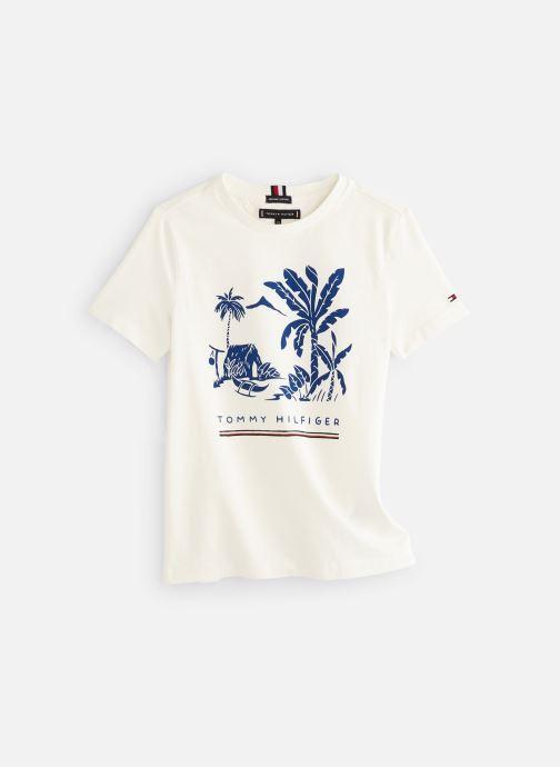 Vêtements Tommy Hilfiger Msw Laguna Beach Graphic Tee Blanc vue détail/paire
