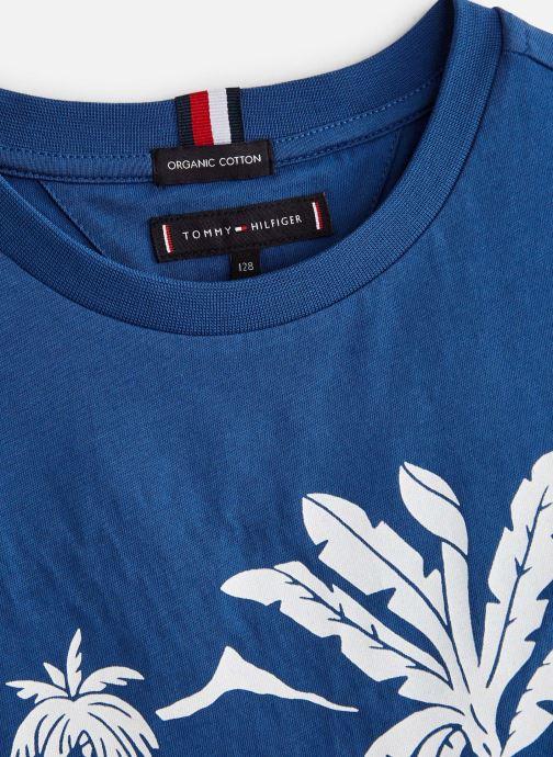 Vêtements Tommy Hilfiger Msw Laguna Beach Graphic Tee Bleu vue portées chaussures