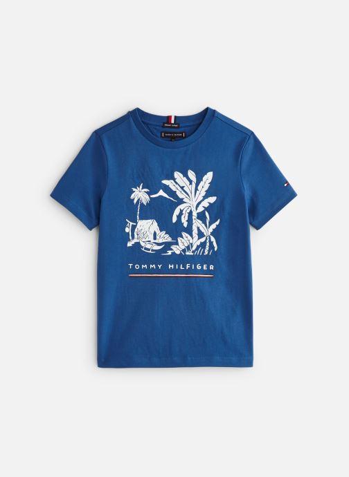 Kleding Tommy Hilfiger Msw Laguna Beach Graphic Tee Blauw detail
