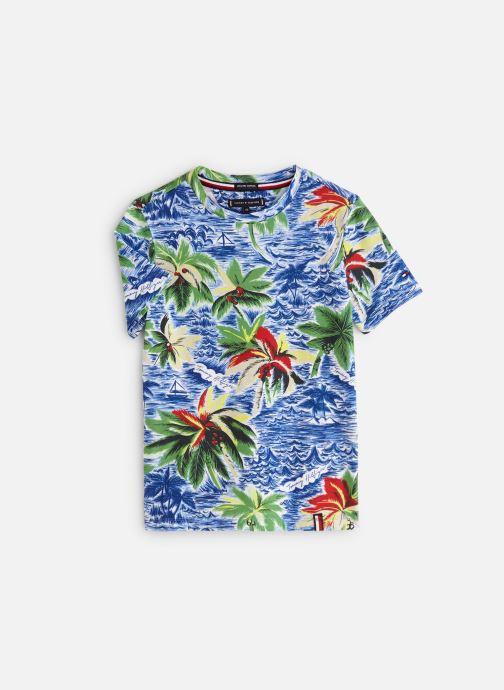 Vêtements Tommy Hilfiger Aop Hawaiian Tee Bleu vue détail/paire