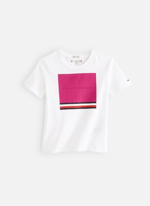 Vêtements Tommy Hilfiger Dg Tee 06 Ww Summer Blanc vue détail/paire