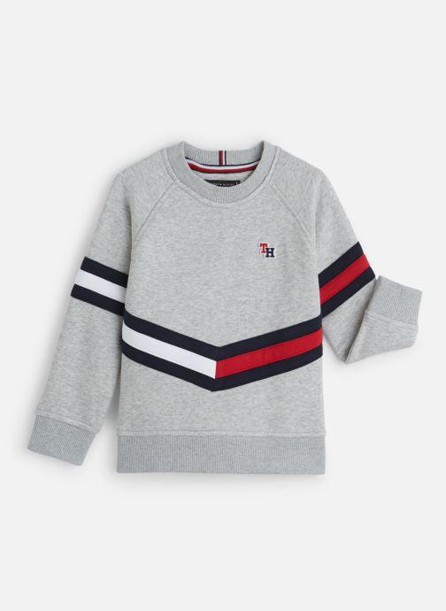 Vêtements Tommy Hilfiger Essential Flag Crew Gris vue détail/paire