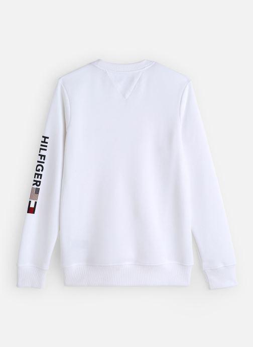 Vêtements Tommy Hilfiger Flags Interlock Crew Blanc vue bas / vue portée sac