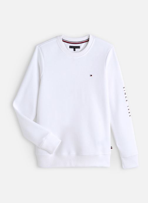 Vêtements Tommy Hilfiger Flags Interlock Crew Blanc vue détail/paire