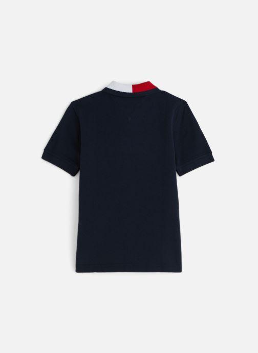 Vêtements Tommy Hilfiger Flag Collar Polo Bleu vue bas / vue portée sac