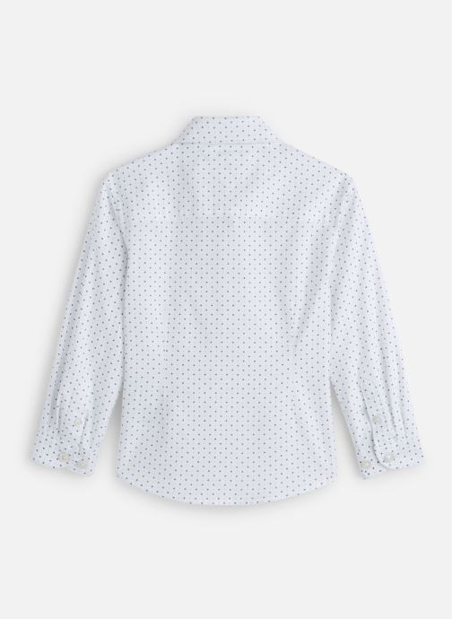 Vêtements Tommy Hilfiger Mini Print Shirt Blanc vue bas / vue portée sac