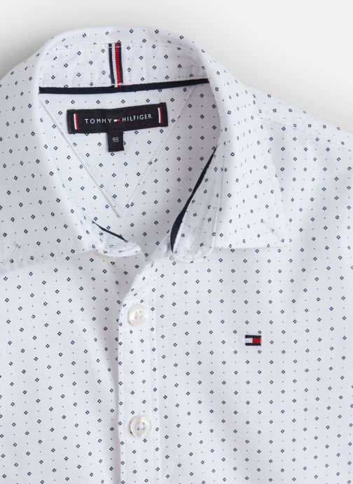Vêtements Tommy Hilfiger Mini Print Shirt Blanc vue portées chaussures