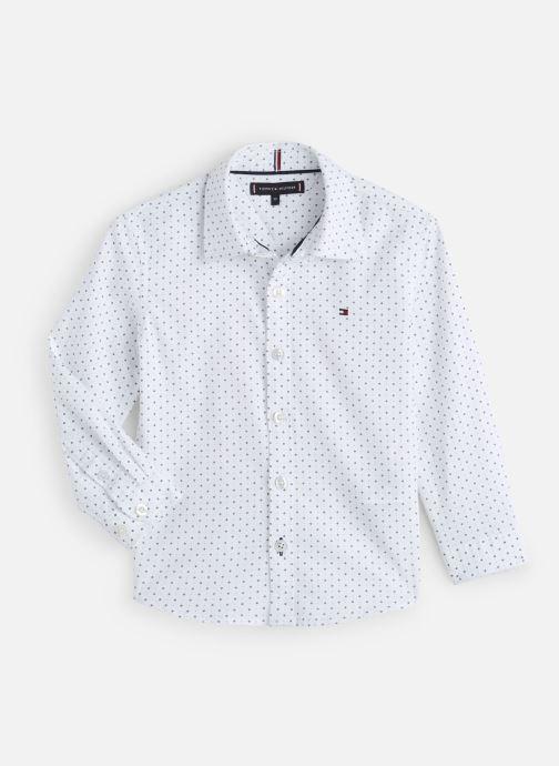 Vêtements Tommy Hilfiger Mini Print Shirt Blanc vue détail/paire