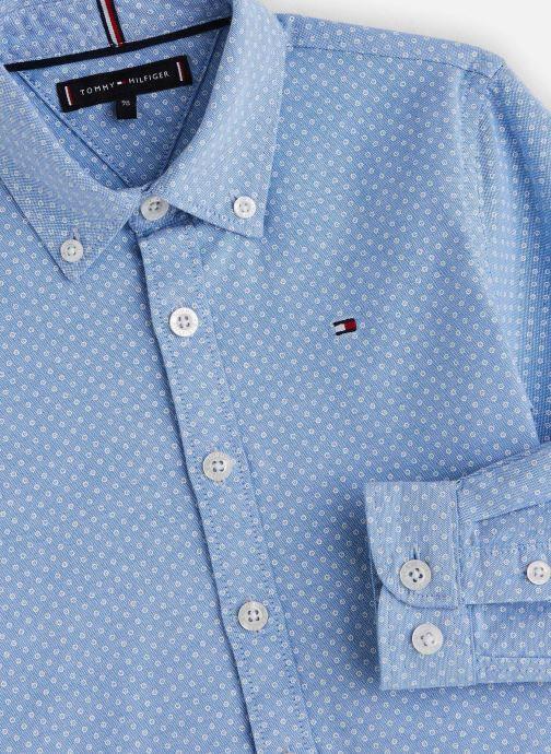 Vêtements Tommy Hilfiger Mini Print Shirt Bleu vue portées chaussures