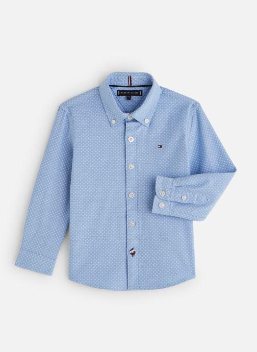 Vêtements Tommy Hilfiger Mini Print Shirt Bleu vue détail/paire