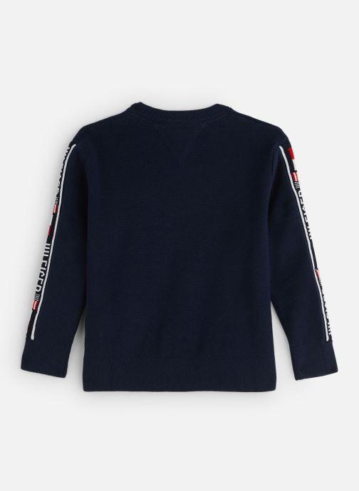 Vêtements Tommy Hilfiger Intarsia Logo Rib Sweater Bleu vue bas / vue portée sac