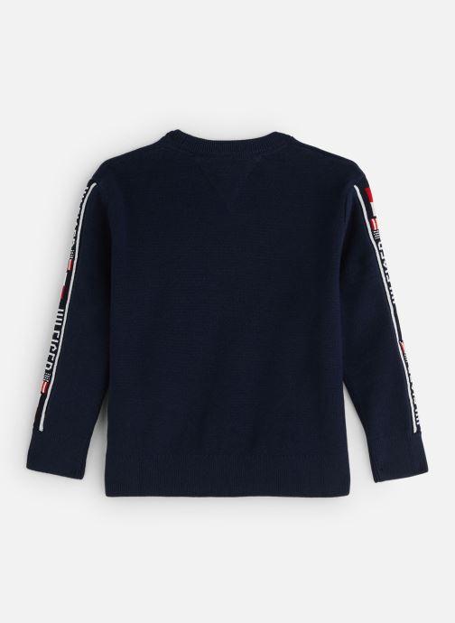 Kleding Tommy Hilfiger Intarsia Logo Rib Sweater Blauw onder