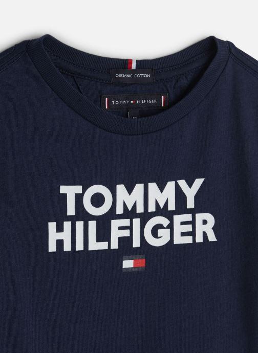 Tøj Tommy Hilfiger Logo Tee Blå se skoene på