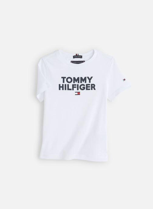 Vêtements Tommy Hilfiger Logo Tee Blanc vue détail/paire