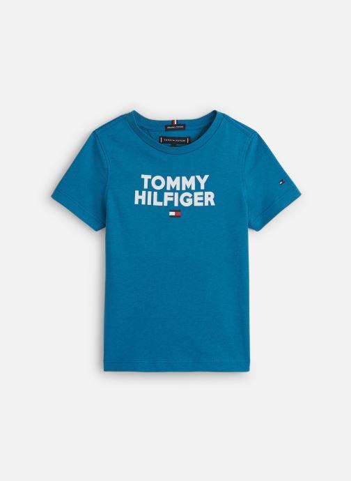 Vêtements Tommy Hilfiger Logo Tee Bleu vue détail/paire