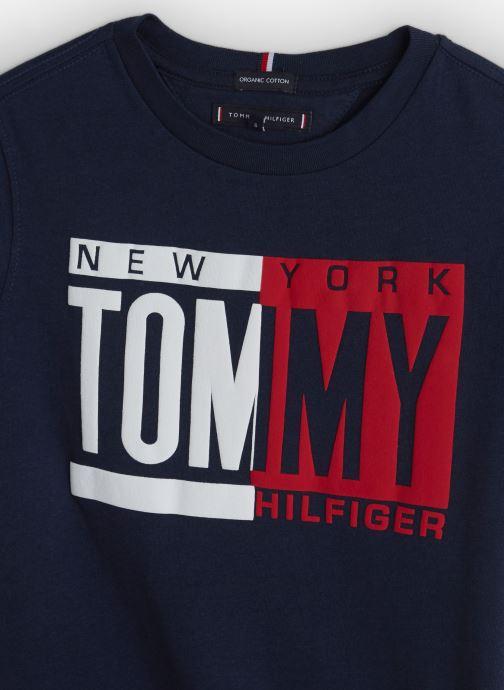 Vêtements Tommy Hilfiger Puff Print Tee Bleu vue portées chaussures