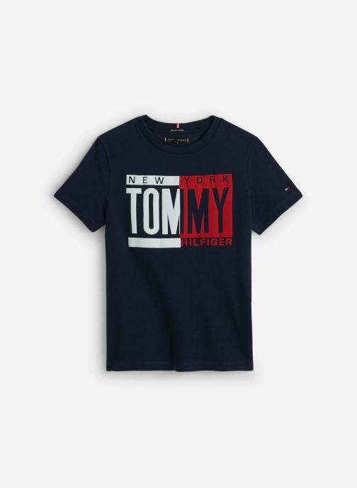 Vêtements Tommy Hilfiger Puff Print Tee Bleu vue détail/paire