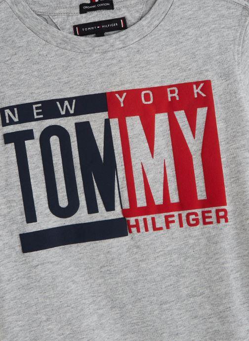 Vêtements Tommy Hilfiger Puff Print Tee Gris vue portées chaussures