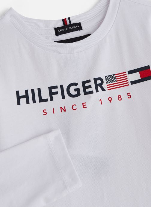 Kleding Tommy Hilfiger FLAGS GRAPHIC TEE Wit model