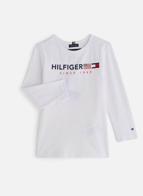 Vêtements Tommy Hilfiger FLAGS GRAPHIC TEE Blanc vue détail/paire